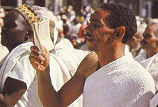 Pilgrim in state of Ihram