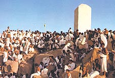 Pilgrims at Arafat Click to view high resolution version