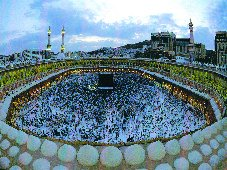Panoramic view of Haram in Makkah Click to view high resolution version